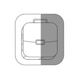 Sticker square silhouette button with briefcase Royalty Free Stock Photography