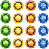 Sticker Star Set Royalty Free Stock Photo