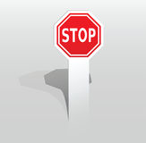 Sticker with stop sign Royalty Free Stock Image
