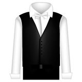 Sticker suit with shirt, waistcoat and pants Royalty Free Stock Images
