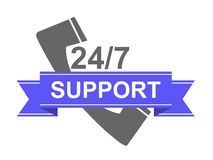 Sticker support Stock Image
