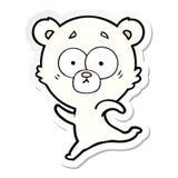 Sticker of a surprised polar bear cartoon. Illustrated sticker of a surprised polar bear cartoon vector illustration