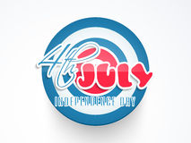 Sticker or tag for American Independence Day. Royalty Free Stock Photos