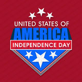 Sticker, tag or label for American Independence Day celebration. Royalty Free Stock Photography