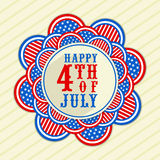 Sticker, tag or label for American Independence Day celebration. Stock Photo