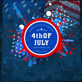 Sticker, tag or label for American Independence Day celebration. Royalty Free Stock Image