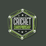 Sticker, tag or label for Cricket Championship. Stock Photography