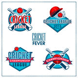 Sticker, tag or label for Cricket Fever. Royalty Free Stock Image