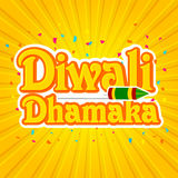 Sticker, Tag or Label design for Diwali Dhamaka. Royalty Free Stock Images
