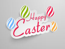 Sticker, tag or label design for Happy Easter celebration. Royalty Free Stock Photography