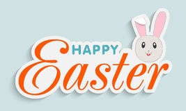 Sticker, tag or label design for Happy Easter celebration. Royalty Free Stock Image
