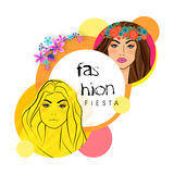 Sticker, tag or label for Fashion Fiesta. Royalty Free Stock Images