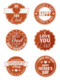 Sticker, tag or label for Fathers Day. Royalty Free Stock Photo