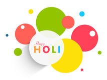 Sticker, tag or label for Happy Holi festival celebration. Stock Image