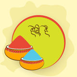 Sticker, tag or label for Happy Holi festival celebration. Royalty Free Stock Photography