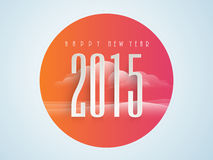 Sticker, tag or label for Happy New Year 2015. Stock Photography