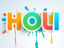 Sticker, tag or label for Indian festival, Holi celebration. Royalty Free Stock Photo