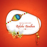 Sticker, tag or label for Raksha Bandhan celebration. Royalty Free Stock Photos