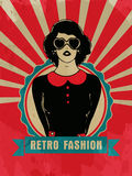 Sticker, tag or label for Retro Fashion. Royalty Free Stock Image