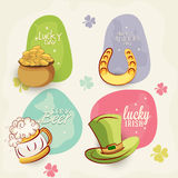 Sticker, tag or label for St. Patricks Day celebration. Stock Photography