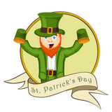 Sticker, tag or label for St. Patricks Day celebration. Royalty Free Stock Images