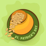 Sticker, tag or label for St. Patrick's Day celebration. Stock Photos