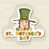 Sticker, tag or label for St. Patricks Day celebration. Stock Images