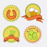 Sticker, tag or label for St. Patricks Day celebration. Royalty Free Stock Photos