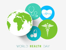 Sticker, tag or label for World Health Day. Stock Photography