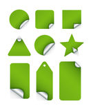 Sticker Tags. Tags and stickers in Various shapes made in  based software Royalty Free Stock Images