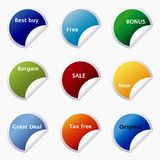 Sticker tags Royalty Free Stock Images