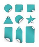 Sticker Tags with border. Tags and stickers in Various shapes made in  based software Royalty Free Stock Image