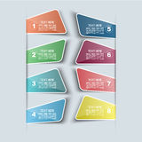 Sticker template number option Royalty Free Stock Images