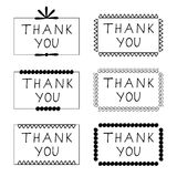 Sticker thank you Stock Photos