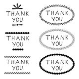 Sticker thank you Royalty Free Stock Image