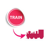 Sticker train pink  Royalty Free Stock Photo