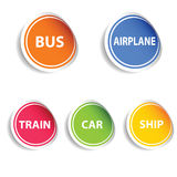 Sticker with transport set color  Stock Photography