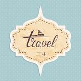 Sticker travel Stock Image