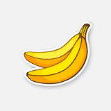 Sticker two bananas Stock Images