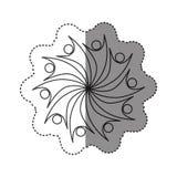 sticker van zwart-wit abstract cijfer van teamgroup Royalty-vrije Stock Foto's