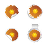 Sticker weather forecast sun  Royalty Free Stock Photos