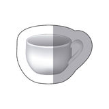 Sticker white cup icon Royalty Free Stock Photography