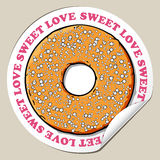 Sticker With Donut. Stock Photography
