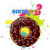 Sticker With Donut. Royalty Free Stock Photo
