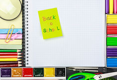 Sticker with the words back to school Royalty Free Stock Image