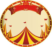 Sticker yellow red circus. A sticker on circus theme for you Stock Images