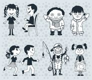 Icons children. Boys and girls Vector. illustration stock photo