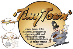 Sticker for your message. Toys in tiny Town. Cop Royalty Free Stock Photos