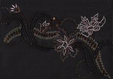 Stickerei der Perlen und des Funkelns. Stockfotos