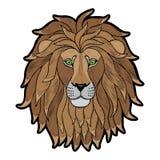 Stickerei Lion Head Patch lizenzfreie abbildung